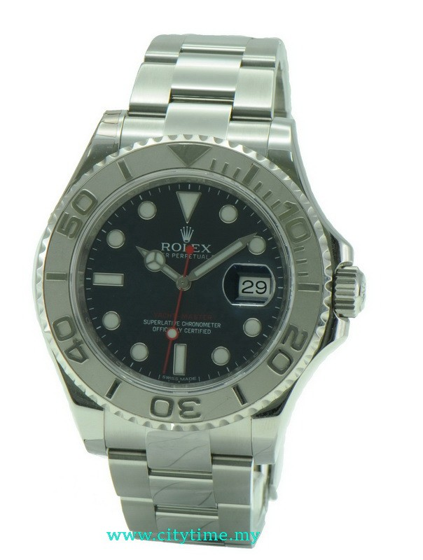 Used Rolex Yacht Master Blue Sunray Dial Platinum & Steel 116622 40mm With Cert