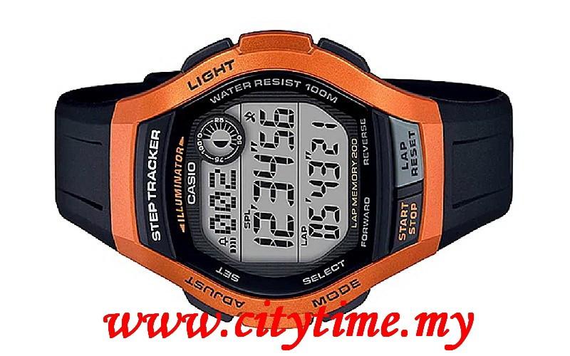 4fa789952 Casio YOUTH Men Digital Step Tracker Rubber Sport Watch WS-2000H-4AVDF