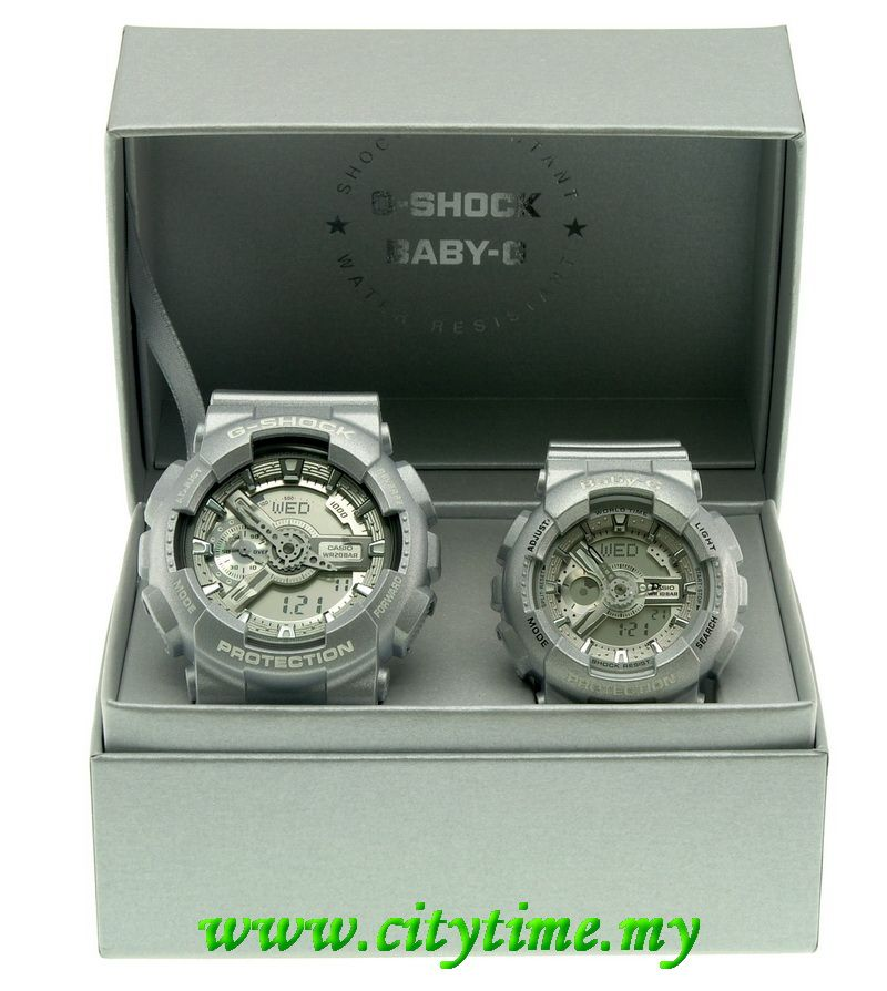 011f498b6fa6 Casio Analog Digital Grey Couple Watch G-Shock GA-110BC-8ADR   Baby-G BA-110-8ADR.  SOLD